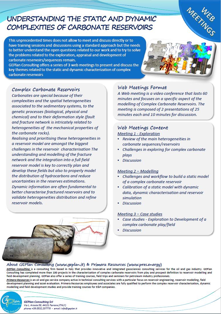 Complex Carbonate Reservoir Web Meeting
